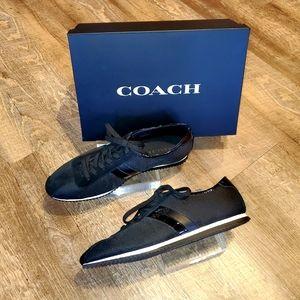 NIB Coach Black Mesh/Patent Leather Sneakers 10B